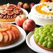 シャインマスカットや一桃匠など、季節のフルーツを使って