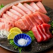 「海の黒いダイヤ」国産本マグロ(黒マグロ)をお値打ち価格でご提供しております♪ また、各種希少部位をご用意しておりますので、それぞれの部位に合わせた食べ方をご提案!