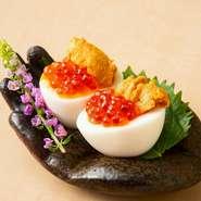 宮崎牛のすき焼きとふわとろ卵焼きを一緒に。