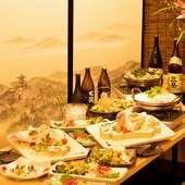 大事なゲストを招いての会食にふさわしい、洗練された空間