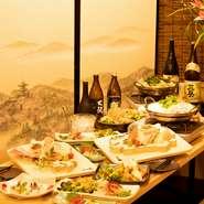 全席掘りごたつ式の個室なので、大事な会食・接待でも周りを気にせずにくつろげます。和やかな雰囲気とおいしい鶏料理を囲んでの食事に、商談もスムーズに進みそうです。
