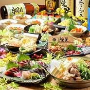 厳選食材を使用したコースは3000円~6000円迄ご用意♪選べるメインに飲み放題付き!シーンに合わせた使い勝手の良いコースが豊富です! 【価格】ネット予約可能が便利