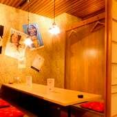 和モダンな雰囲気の掘りごたつ個室!