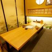 しっとりとした和空間で語らう個室デート