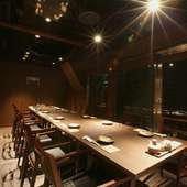 ゆったりと個室で宴会を。完全個室もご予約可能です。
