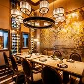 和洋折衷の豪華な個室は会食にもぴったり