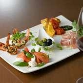 美酒に合わせた季節の料理をいただける『オードブル・ワインSet』