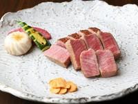 伊勢海老と鮑の鉄板焼、A5ランク黒毛和牛ステーキのフルコース
