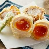 豚の角煮と煮卵の天ぷら
