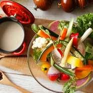 地元・三浦野菜をふんだんに使った創作料理をご堪能いただけます