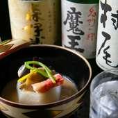 森伊蔵、魔王、村尾は常備。それ以外にも30種以上の焼酎を用意