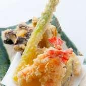 丹精込めて揚げる極上の天ぷら