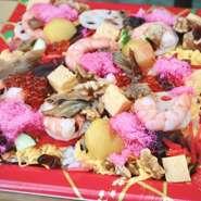 十四種類のバランスのとれた伝統のちらし寿司をお楽しみ下さい。 家族の集まりなどで一つあると豪華に食卓を飾ります