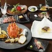 最高級A5ランク黒毛和牛のステーキとフォアグラ・鮑・イセエビを贅沢に!『極コース』
