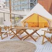 【夏】テント側 グランピング席