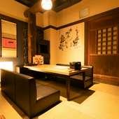 和の風情溢れる雰囲気の座敷。最大15名までの個室としても利用可