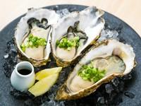 三陸で獲れた新鮮で身が大きい『生牡蠣(1個)』