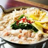 国産もつを使い、本場博多の味を提供『醤油もつ鍋』