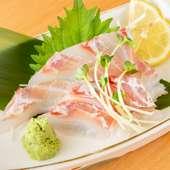 鮮度も味も抜群、長崎県松浦港直送『鯛のお造り』