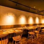 女子会に最適なオシャレな空間。本格的な料理とガールズトーク