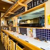 お一人様も安心。新鮮な寿司も食べられる大衆居酒屋です
