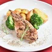 海外から仕入れる新鮮なうさぎの骨付きもも肉。淡白で食べやすい逸品『うさぎの骨付きもも肉のグリル』