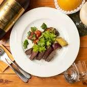 猟師直送のシカ肉の旨味を塩でシンプルに味わう『小豆島産鹿肉季節の野菜のソテー』
