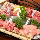 厳選肉と熟成肉の贅沢な盛り合わせ『蔵のオススメ4種盛り』
