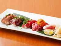 ここでしか味わえない桜肉寿司『おまかせ5貫』