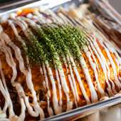 野菜たっぷり、ボリューム満点の『広島風お好み焼き』
