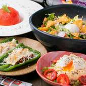 久留米市産の馬肉や米、野菜を使用。フレッシュな味わいが評判