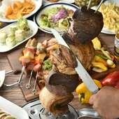 豪華食材を豊富に使用したプレミアムBBQやシュラスコを食べ放題でご堪能!