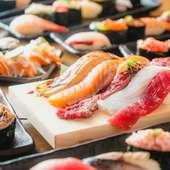 高級寿司ネタ70種が心ゆくまで食べ放題!!