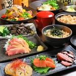 鹿児島地鶏、奥三河鶏、桜島鶏、日南どり 4種の地鶏をふんだんに使ったコースです。