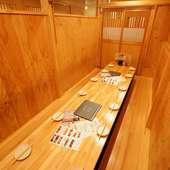 人数に合わせて、いろいろなシチュエーション使える個室