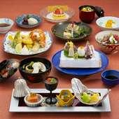 季節感を料理で感じる。旬の食材を美しい料理で味わえる『楽水 割烹会席』