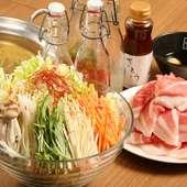 ハーブ豚と野菜をしょうがのきいたスープで。『つけしゃぶ』