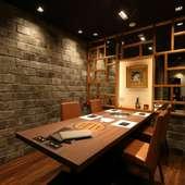 個室も備えており、プライベート空間での食事も叶う