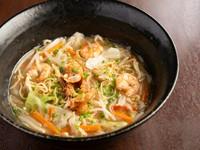 蒸し麺を使ったご当地の味『あじまる 海鮮戸畑ちゃんぽん』