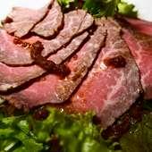 ローストビーフのサラダ(堺産の肉を使用)