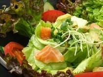 アボガドとサーモンのサラダ