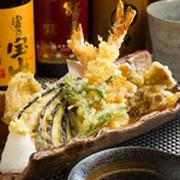 地元の食材を使用した天ぷら