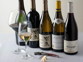 ソムリエ厳選! こだわりの料理と楽しみたいワインが充実