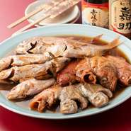 女将が釣り上げる鮮魚は、『お刺身』『焼き魚』『煮魚』に