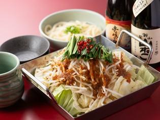 野菜たっぷり!〆のうどんまで大満足の『ちりとりホルモン鍋』