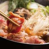 """""""名物""""鶏すき鍋"""