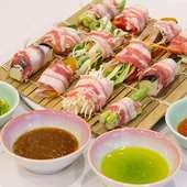 地元・福岡の食材を3種類のしゃぶしゃぶで味わう