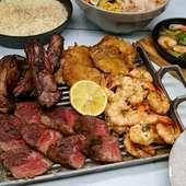 豪快BBQ料理を楽しむお得なプランもあり