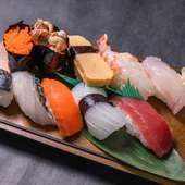 新鮮な県産魚で握った『寿司盛り合わせ』