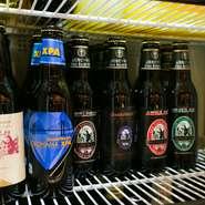 国際、国内のビアカップで多くの受賞歴を持つクラフトビールの大御所的存在、お隣厚木市に工場を構える「サンクトガーレン」。『スイートバニラ』や『YOKOHAMA XPA』など常時6種類以上を用意しています。